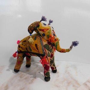 Vintage Indian tapestry elephant